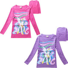 My Little Pony Pattern Clothing Kids Girls Children's T-shirt Top Long Sleeve