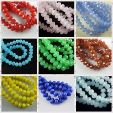 Lots 100pcs Faceted Glass Crystal Jewelry Design Findings Rondelle Beads 6x4mm