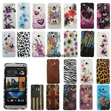 Colorful Flexible Soft TPU Protective Case Cover Skin Shell For HTC ONE M7