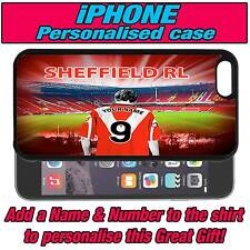 PERSONALISED SHEFFIELD RUGBY LEAGUE iPHONE 4 s 5 s 5c SILICONE BACK CASE