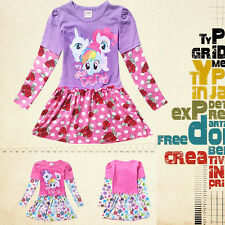 Disney My Little Pony Costume Top Baby Kids Girls Flower Party Dress Clothes