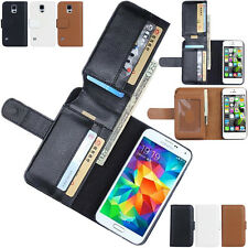 New Flip Wallet Card Holder Leather Case Cover For Samsung Galaxy / Apple iPhone