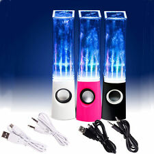 USB LED Light Dancing Water Show Speakers Music for PC Laptop MP3 Phone Audio