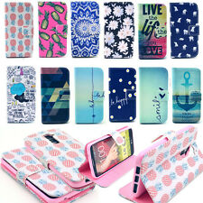 Unique Pattern Flip Leather Case Cover Wallet Purse Stand For LG G2 D801 F320