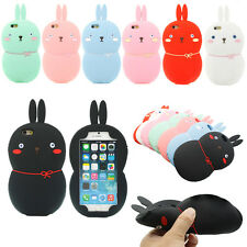 3D Cute Lovely Rabbit Bunny Soft Silicone Gel Cover Case For iPhone 6 6S 4.7""