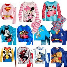 All Kinds Kids Toddlers Mickey Print Pajamas Cotton Sleepwear Sets For 1-7Y