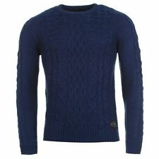 Pierre Cardin Mens Cable Knit Crew Neck Long Sleeve Top Sweat Jumper Pullover