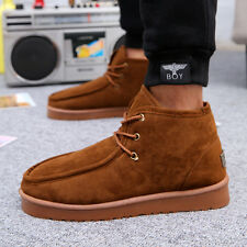 New Mens Winter Boots work shoes Short Warm Fulff Leather online shopping cheap