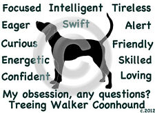 Treeing Walker Coonhound Dog ~ My Obsession, Any Questions? ~ Sweatshirt