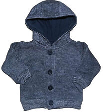 Baby and Toddler Boys Denim Marl Hooded Jacket Cardigan  3-6M up to 4-5Y