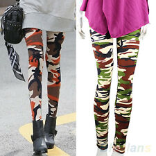 Womens Sexy Camo Camouflage Stretchy Trousers Army Green Great Nice Leggings