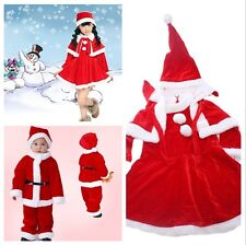 Girls Kids Fancy Clothes Christmas Party Costume Christmas Girl Dress Hat S