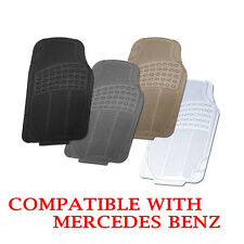 Mercedes Benz Compatible All Season Floor Mats Black Grey Beige Clear