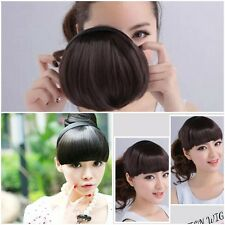 Nice Women's Girl's Neat Hair Extensions Bangs Fringes with Hair Bands/Headband