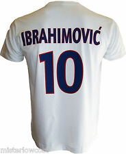 T-shirt Zlatan IBRAHIMOVIC N°10  PARIS SAINT GERMAIN PSG blason maillot Football