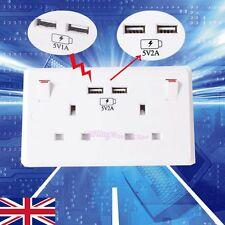 Double Gang Electrical Plug 2A Socket With 2 USB Outlets Electric Wall Faceplate