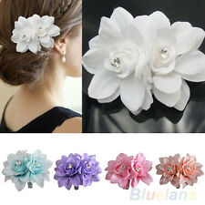 Girl Women Chic Beauty Hair Flower Clip Pin For Bridal Wedding Prom Party BD10A