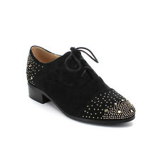 EASOS GEAL HORY-81 Women's Studded Lace-up Almond Toe Oxfords