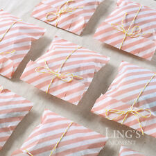 25pcs Stripe Wedding Party Food Candy Favor Gift Paper Bags Color You Choose