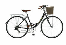Viking Prelude 7 Speed Ladies Bike, Black 700C, White, Classic Shopper Town