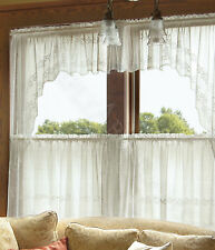 Heritage Lace Sheer Divine Swag Pair, 80x46 Choice of 3 Colors, 1 Pair or Sets