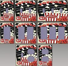 Double Feature Popcorn Wall Decor Light Switch Plate Cover