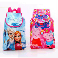Frozen Peppa Pig Swimming Clothes Drawstring Bag Backpack School Bag Kids Gift