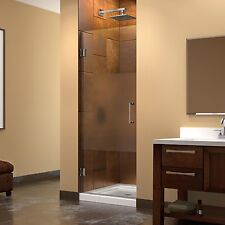 Dreamline Unidoor 28 in. W x 72 in. H Frameless Hinged Shower Door, Half Frosted