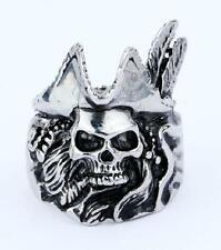 316L Stainless Steel Fashion Mens Jack Sparrow Ring Punk Jewelry Size 7-12 NG
