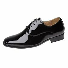 New Mens Boys Leather Lined Goor Shiny Patent Casual Dress Smart Shoes Size 8-14