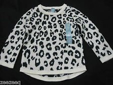 NWT Girls Baby Gap Leopard Print Ivory Black Sweater Top Size 3