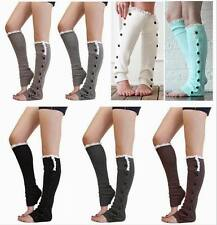 Knit With Button Leg Warmers Lace Trim Toppers Boot Women's Crochet  Socks Cuffs