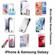 MIRROR SCREEN PROTECTORS IPHONE SAMSUNG IPOD TOUCH 5 & 6