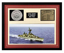 USS John R Pierce DD 753 Framed Navy Ship Display