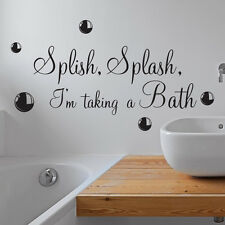 SPLISH SPLASH TAKING Ein Bad Badezimmer Wand Sticker Vinyl Kunst Aufkleber