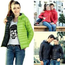Womens Casual Winter Hooded Outerwear Candy Color Slim Down Jacket Coat Overcoat