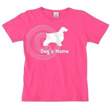 English Cocker Spaniel Dog Personalized T-Shirt with Your Dog's Name!