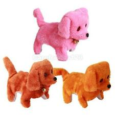 FUZZY WALKING BARKING TOY MOVING DOG PLAY PET BATTERY OPERATED PLUSH DOLL TOY