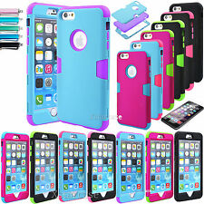 For Apple iPhone 6 Plus 5.5 Heavy Duty Hybrid Rugged Rubber Case Hard Cover Skin