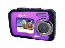 Coleman Duo 2V7WP 14.0 MP Waterproof Digital Camera with Dual LCD Screen