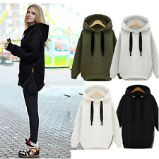Women Loose Oversize Sweatshirt Hoodie Pullover Long Sleeve Hooded Casual Coat