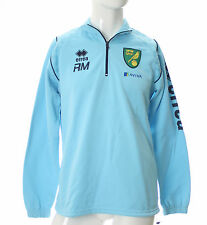 OFFICIAL NORWICH CITY STAFF WORN 2013-14 TRAINING 1/4 ZIP TOP IN BLUE