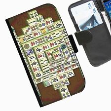 Games Dominoes  Leather wallet personalised phone case for HTC1