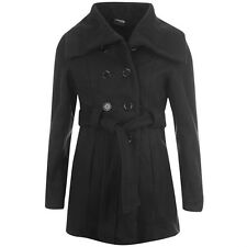 Image Jacket Ladies Gabardine Women's Coat Double Breast Buttoned New