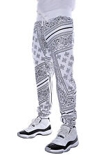 Mens Drop Crotch Dance Harem Imperious Paisley Low Rider Bandana Jogger Pants