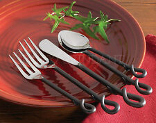 Forged Loop Flatware by Park Designs, Five Piece Place Setting, Choice of Set