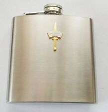 42 COMMANDO ROYAL MARINES DAGGER AND PATCH HIP FLASK - GOLD OR SILVER BADGE