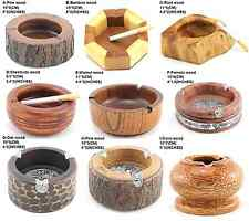 WOODEN ASHTRAY CIGARETTES CIGARS SMOKE HOLD COLLECTIONS NATURAL MEN'S GIFT