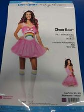 Cheer Bear Care Bears Pink Rainbow Adult Womens Leg Avenue Halloween Costume