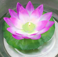 1/12 Pcs Chinese Lotus Wishing Lamp Water Floating Lighting Lanterns w Candle